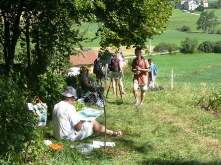 Stage semaine randonnée croquis/peinture à l`huile, acrylique, pastel et aquarelle à Saint-Martin-en-Vercors avec Cultur`Arts et Toine