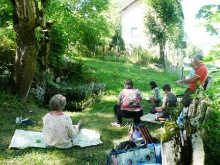 Stage semaine croquis/peinture sur le motif à huile, acrylique, pastel et aquarelle à Saint-Martin-en-Vercors avec Cultur`Arts et Toine